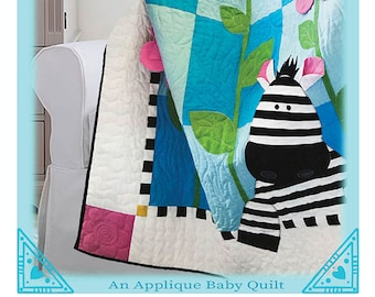Zoe Zebra Quilt Pattern by The Quilt Factory/Debra Grogan QF 1710