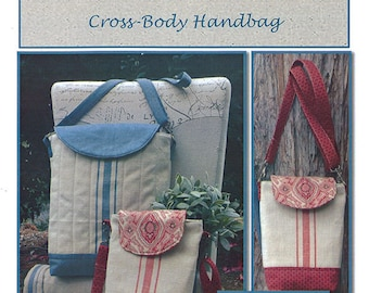 Cross Body Handbag Pattern by Pieces To Treasure Made with Moda Toweling PTT 144