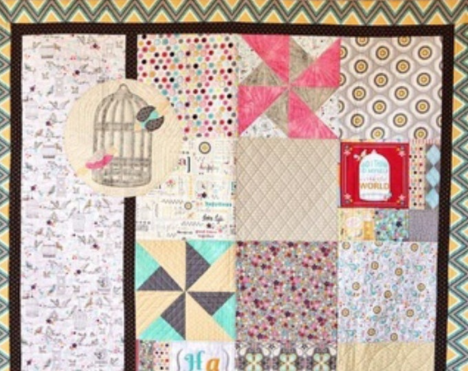 FREE SHIPPING Adornit RhapsodyBop Fabric Lap Quilt Kit with Extras FK004