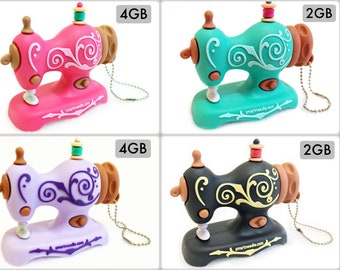 free shipping USB Vintage Sewing Machine Flash Drive USB #USB2SWBLA