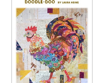 Doodle Doo Collage Quilt Pattern by Laura Heine for Fiberworks LHFWDOODLE