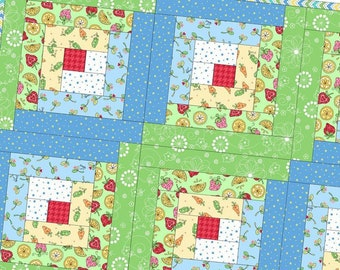 Lil Sprout Flannel Log Cabin Precut Quilt Kit Pod by Maywood Studio POD-MAS02-LSF