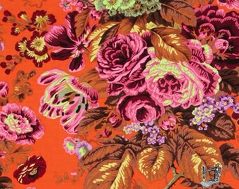 1/2 Yd Floral Delight Orange Spring 2015 by Philip Jacobs for FreeSpirit Fabrics PWPJ075.ORANG