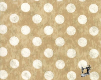 1/2 yd Maven Large Kraft Dots by BasicGrey for Moda Fabrics 30464 25