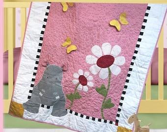 Hannah Hippo Quilt Pattern by The Quilt Factory/Debra Grogan QF-1713