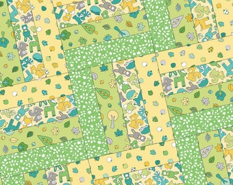 Babe in the Woods Flannel Too! Rail Fence Pod Precut Quilt Kit by Maywood Studio POD-MAS03-BIW2