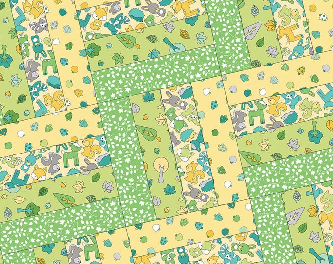 FREE Shipping Babe in the Woods Flannel Too! Rail Fence Pod Precut Quilt Kit by Maywood Studio POD-MAS03-BIW2