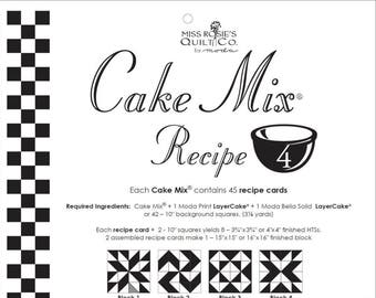 Moda Cake Mix Recipe by Miss Rosie's Quilt Co Design #4