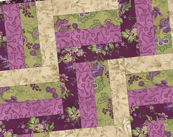 Aubergine Rail Fence Precut Quilt Kit Pod by Debbie Beaves for Maywood Studio POD-MAS03-AUB