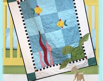 Simon Sea Turtle Quilt Pattern by The Quilt Factory/Debra Grogan QF-1715
