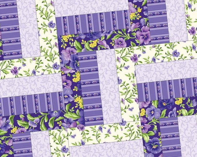 FREE Shipping Emma's Garden Rail Fence Precut Quilt Kit Pod by Maywood Studio POD-MAS03-EMG