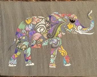 All Star Elephant Laser Cut Quilt Kit by Madi Hastings for Laser Quilts