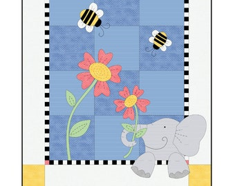 Eloise the Elephant Quilt Kit by Deb Grogan for Maywood Studio KIT-MASELE
