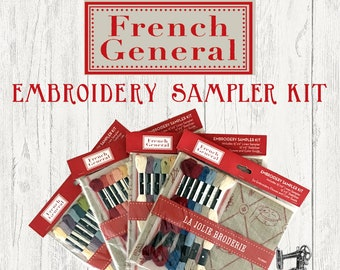 French General Embroidery Sampler Kits FG VR006 Moda
