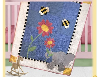 Eloise Elephant Quilt Pattern by The Quilt Factory/Debra Grogan QF-1712