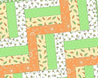 Lil Sprout Flannel Rail Fence Pod Precut Quilt Kit by Maywood Studio POD/MAS03-LSF
