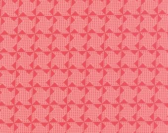 1/2 yd Gooseberry Pinwheels by Lella Boutique for Moda Fabric 5014 12 Petal Pink