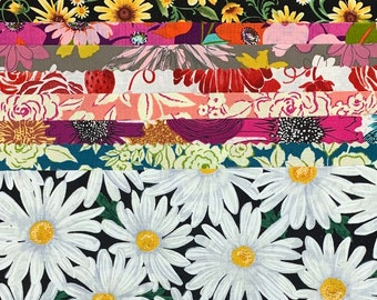 Collage Cuts Floral Pack // Kit // Remnants // StidioE // Art Gallery // Quilting Treasures // Timeless Treasures // Windham A