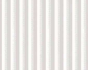 1/2 yd SALE Wiltshire Daisy Grey/Gray Ticking Stripe by Carina Gardner for Riley Blake
