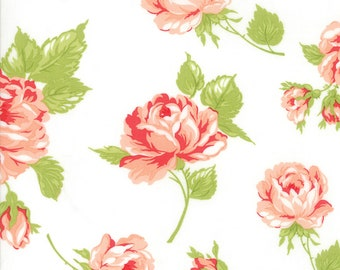"1/2 yd Smitten Rosy 54"" Floral Lawn by Bonnie & Camille for Moda Fabrics 55170 17W"