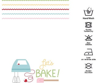 Let's Bake Kitchen Tea Towel by Lori Holt of Bee in my Bonnet for Riley Blake Designs TT-8552