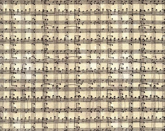 1/2 yd Row by Row Music Notes Grid from Timeless Treasures Fabrics Row-C5935-Cream