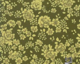 1/2 yd Regent St Lawn Classic Floral Claremont Dark Green 2016 by Moda Fabrics 33197 18