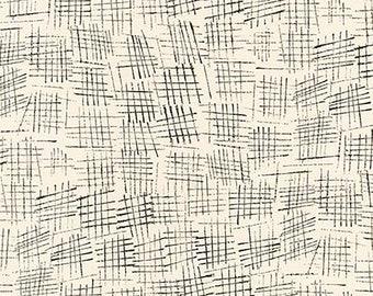 1/2 yd Chalk & Charcoal Hash Marks Snow by Jennifer Sampou for Robert Kaufman Fabrics AJS-17512-87