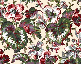 1/2 yd English Garden Begonia Harvest by Snow Leopard Designs for Free Spirit Fabrics PWSL054.HARVE