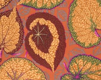 1/2 yd Philip Jacobs Spring 2014 Big Leaf Kaffe Fassett Collective Free Spirit PWPJ070.OCHRE