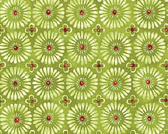 1/2 yd Jingle All the Way Sugar Plums Fabric by Nancy Halverson for Benartex 4521-40 Willow