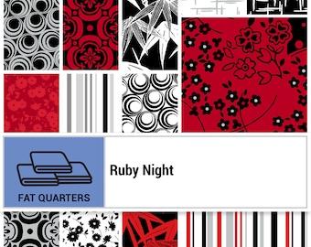 Ruby Night Fat Quarter Bundle // Clothworks FQ0298