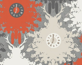 SALE Indelible Time is Deer Ember by Katarina Roccella for Art Gallery Fabrics IDL-2220 PER yard