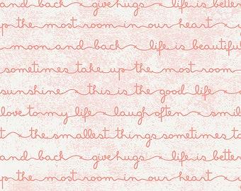 1/2 yd Fusion Heartfelt Reverie Script by Art Gallery Fabrics FUS-R-807