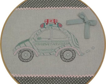 Coccinelle VW Volkswagen Car Embroidery Kit by Le Petit Atelier  #024
