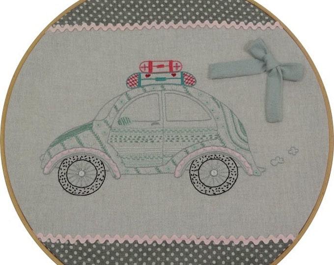 Coccinelle VW Volkswagen Car Embroidery Kit by Le Petit Atelier  #024