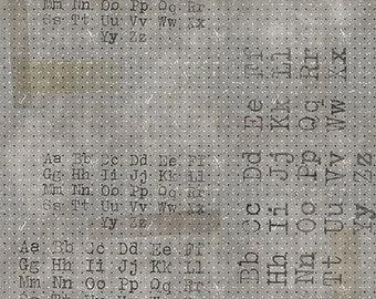 Tim Holtz Memoranda Font Fabric // FreeSpirit PWTH096.BLACK by the Half Yard