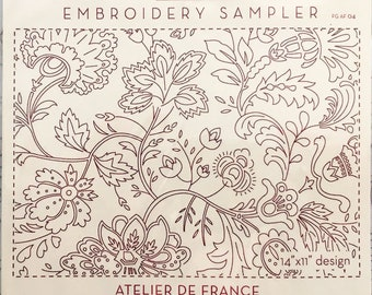 Atelier De France Embroidery Sampler by French General FG-AF004