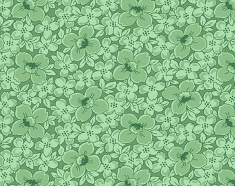1/2 yd Berries & Blossoms Flower Bed Fabric by A Kim's Cause Collection for Maywood Studio MAS8836-G