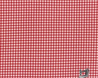 1/2 yd Quilter's First Red Gingham Check by Lecien Fabrics 530