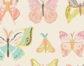 1/2 yd Wingspan Melon by Bonnie Christine for Art Gallery Fabrics WNG-1020