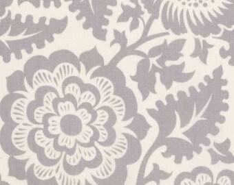 1/2 yd Modernist Blockprint Blossom by Joel Dewberry for Free Spirit Fabrics PWJD137.SMOKE