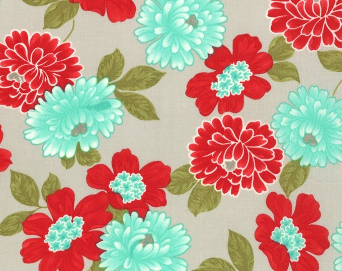 1/2 yd Vintage Modern Floral Cotton Blossom Fabric by Bonnie & Camille for Moda 55048 13