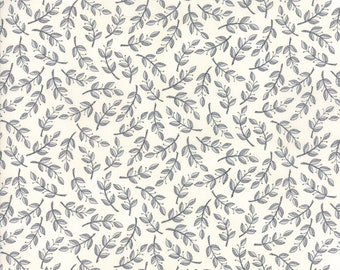 "END of BOLT 22"" Homegrown Distressed Whitewash Leaves Vines by Deb Strain for Moda Fabrics 19824 11"