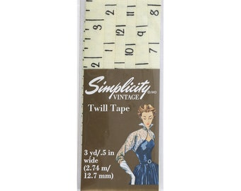 Vintage Ruler Twill Tape 3yd Cut by Simplicity Creative Corp. 117820003