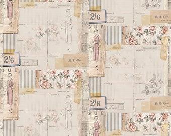 Tim Holtz Memoranda 3 Vogue Fabric // FreeSpirit by the Half Yard