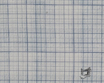 1/2 yd Correspondence Graph Blue by Tim Holtz for Free Spirit/Coats Fabric PWTH042.8BLUE