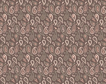 1/2 yd Olivia Paisley by Camelot Fabrics 2144702-3 Taupe