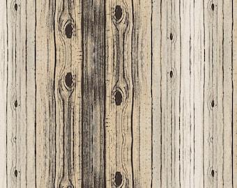 "Lakehouse REMNANT 25"" Birch Woodgrain Fabric // Whistler Studios // Windham Fabrics 50205-4"