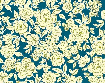 1/2 yd Zola Etched Floral Fabric by Ink & Arrow for Quilting Treasures 26143 -N